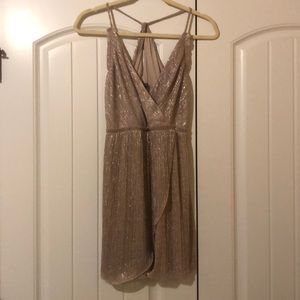 Express Sexy Silver Party Dress XS